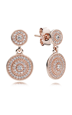 PANDORA Rose™ & Clear CZ, Radiant Elegance Earrings 280688CZ product image
