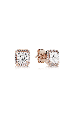 PANDORA Rose™ & Clear CZ, Timeless Elegance Earrings 280591CZ product image