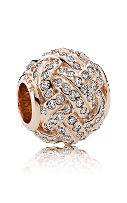 PANDORA Rose™ & Clear CZ Sparkling Love Knot Charm 781537CZ product image