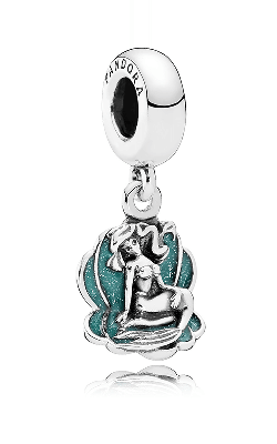 Pandora Disney Ariel & Sea Shell Dangle Charm Glittery Seafoam Green Enamel 791895EN111 product image