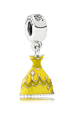 PANDORA Disney Belle's Dress Dangle Charm Mixed Enamel 791576ENMX product image