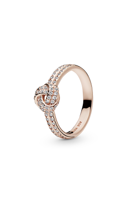 PANDORA Rose™ & Clear CZ, Sparkling Love Knot Ring 180997CZ-52 product image