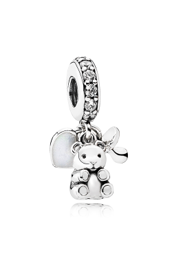 PANDORA Baby Treasures Dangle Charm Clear CZ 792100CZ product image