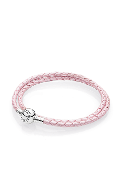 Pandora Mother's Day Pink Braided Double-Leather Charm Bracelet 590745CMP-D1 product image