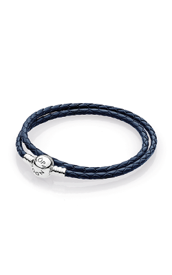 Pandora Mother's Day Dark Blue Braided Double-Leather Charm Bracelet 590745CDB-D1 product image