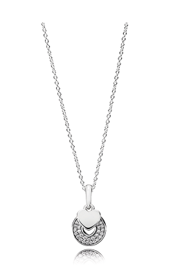 PANDORA Mother's Day Celebration Hearts Clear CZ Necklace 390404CZ-70 product image