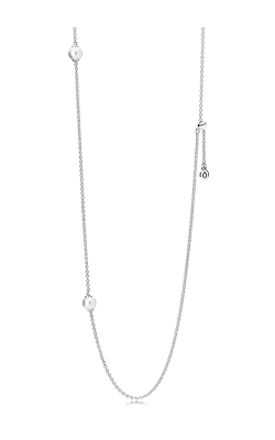 PANDORA Mother's Day Luminous Dainty Droplets White Crystal Pearl Necklace 590539WCP-80 (Retired) product image