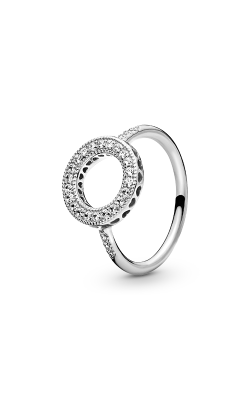 PANDORA Mother's Day Hearts of PANDORA Halo Clear CZ Fashion Ring 191039CZ-54 product image