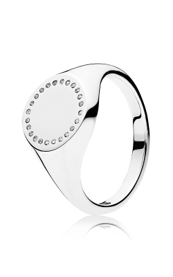 PANDORA Mother's Day Circle Signet Clear CZ Fashion Ring 191041CZ-50 (Retired) product image