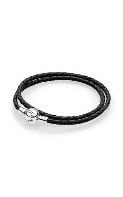 Pandora Mother's Day Black Braided Leather Charm Bracelet 590745CBK-D2 product image