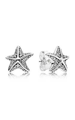 PANDORA Tropical Starfish Clear CZ Earrings 290748CZ product image