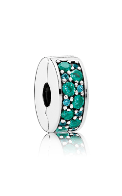 Pandora Mosaic Shining Elegance Clip Multi-Colored Crystals & Teal CZ 791817MCZMX product image