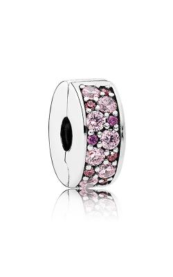 PANDORA Mosaic Shining Elegance Clip Fancy Pink & Fancy Purple CZ 791817CZSMX product image