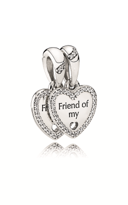 Pandora Hearts Of Friendship Dangle Charm Clear CZ 792147CZ product image