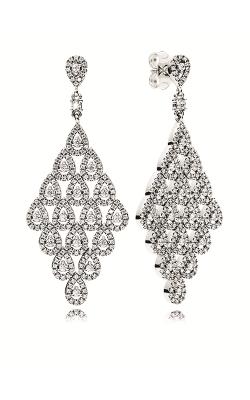 PANDORA Cascading Glamour Earrings, Clear CZ 296321CZ product image