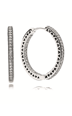 Pandora Hoop Earrings Clear CZ 296319CZ product image