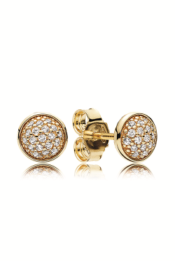 PANDORA Dazzling Droplets Stud Earrings 14K Gold & Clear CZ 256212CZ product image