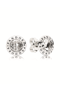 PANDORA Logo Stud Earrings Clear CZ 296216CZ product image