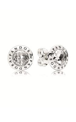 PANDORA Logo Stud Earrings Clear CZ 296216CZ product image