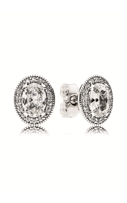 PANDORA Vintage Elegance Stud Earrings Clear CZ 296247CZ product image