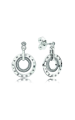 PANDORA Circles Drop Earrings Clear CZ 296296CZ product image