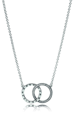 PANDORA Circles Necklace Clear CZ 396235CZ-45 product image