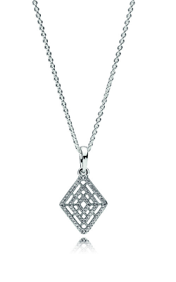 PANDORA Geometric Lines Necklace & Pendant Clear CZ 396209CZ-60 product image