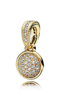 Pandora Dazzling Droplet Pendant 14K Gold & Clear CZ 356213CZ product image
