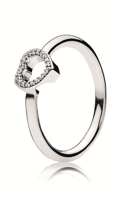 PANDORA Puzzle Heart Frame Ring Clear CZ 196549CZ-52 product image