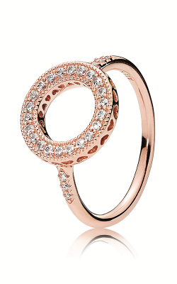 PANDORA Rose™ & Clear CZ, Hearts Halo Ring 181039CZ-48 product image