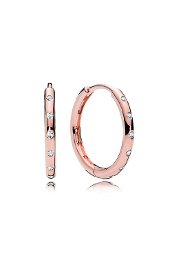 Pandora Rose™ & Clear CZ, Droplets Hoop Earrings 286244CZ product image