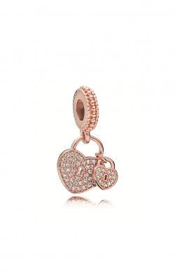Pandora Rose™ & Clear CZ, Love Locks Dangle Charm 781807CZ product image