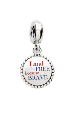 Pandora Land of the Free Because of the Brave Dangle Charm Red White & Blue Enamel ENG791169 43 (Retired) product image