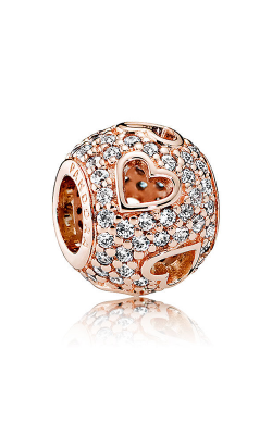 Pandora Rose™ Tumbling Hearts Charm Clear CZ 781426CZ product image