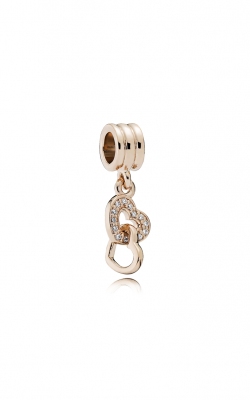 Pandora Rose™ & Clear CZ, Interlocking Love Dangle Charm 781242CZ product image