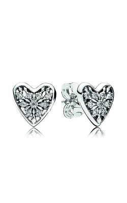 Pandora Hearts Of Winter Stud Earrings, Clear CZ 296368CZ product image