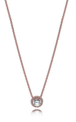 PANDORA Classic Elegance Necklace, PANDORA Rose™ & Clear CZ 386240CZ-45 product image