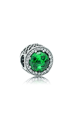 Pandora Radiant Hearts Charm, Sea Green Crystals & Clear CZ 791725NSG product image