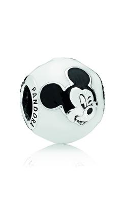 PANDORA Disney, Expressive Mickey Charm, White & Black Enamel 796339ENMX product image