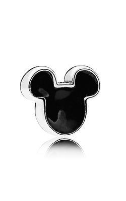 PANDORA Disney, Mickey Icon Petite Locket Charm, Black Enamel 796344EN16 product image