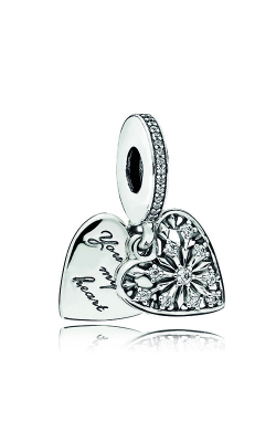 Pandora Heart Of Winter Dangle Charm, Clear CZ 796372CZ product image