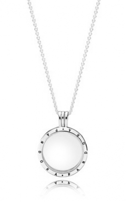 PANDORA Floating Locket Pendant, Medium, Sapphire Crystal Glass 590529-60 product image