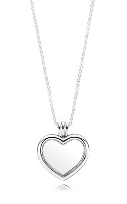 PANDORA Floating Heart Locket, Sapphire Crystal Glass & Clear CZ 590544-60 product image