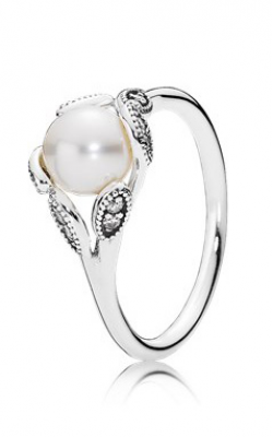Pandora Luminous Leaves Ring White Pearl & Clear CZ 190967P-50 product image
