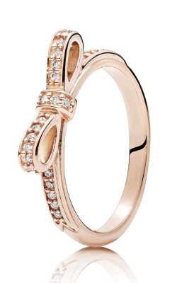 PANDORA Rose™ & Clear CZ Sparkling Bow Ring 180906CZ-56 product image