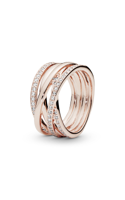 PANDORA Rose™ & Clear CZ, Entwined Ring 180919CZ-54 product image