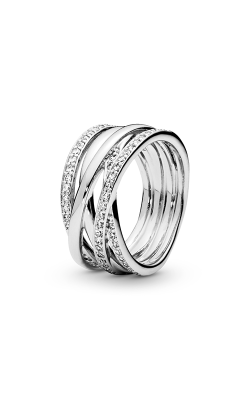 PANDORA Entwined Ring Clear CZ 190919CZ-64 product image