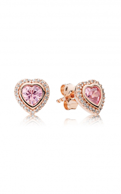 PANDORA Rose™ Pink & Clear CZ, Sparkling Love Stud Earrings 280568PCZ product image