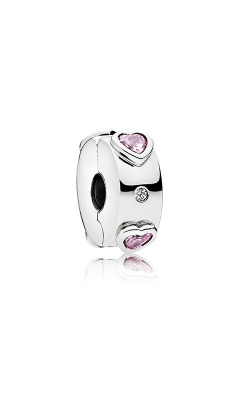 Pandora Explosion Of Love Clip Fancy Fuchsia Pink & Clear CZ 796591FPC product image