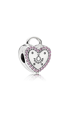 PANDORA Lock Your Promise Clip Fancy Fuchsia Pink CZ 796556FPC product image
